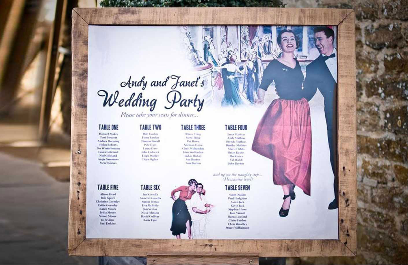 vintage wedding table plans from once upon